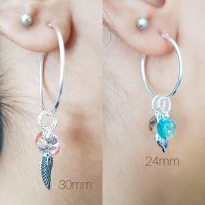 Image of BEJEWELLED HOOP EARRINGS
