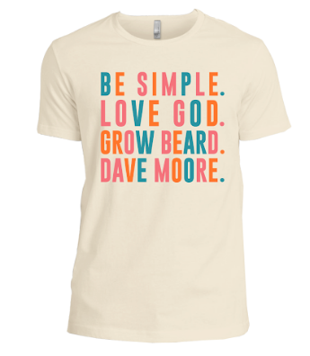 Image of Be Simple Love God Grow Beard