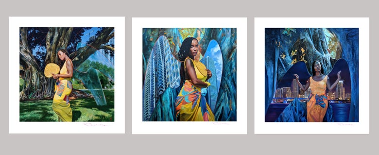 "Image of Full "" Alora "" triptych ( 3 prints )"
