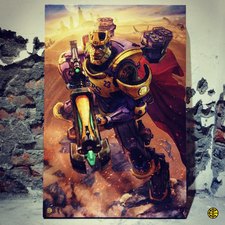"Image of ""OVERWATCH KING"" CANVAS"