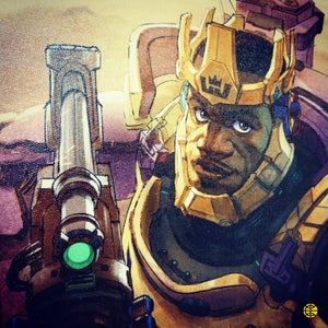 """Image of """"OVERWATCH KING"""" CANVAS"""
