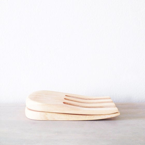 Image of Handmade Jacaranda Wood Serving Forks