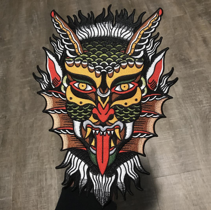 Image of Sassy for Satan Backpatch!