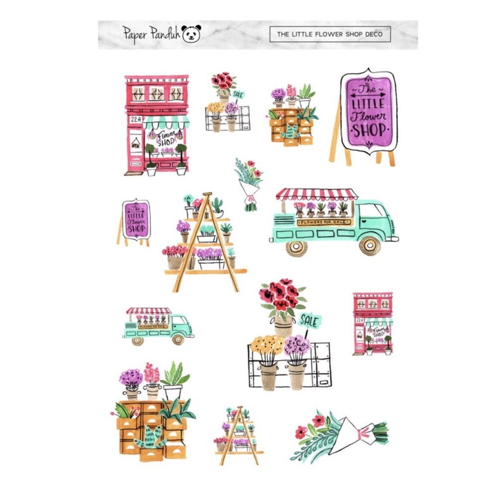 Image of The Little Flower Shop Deco Sheet
