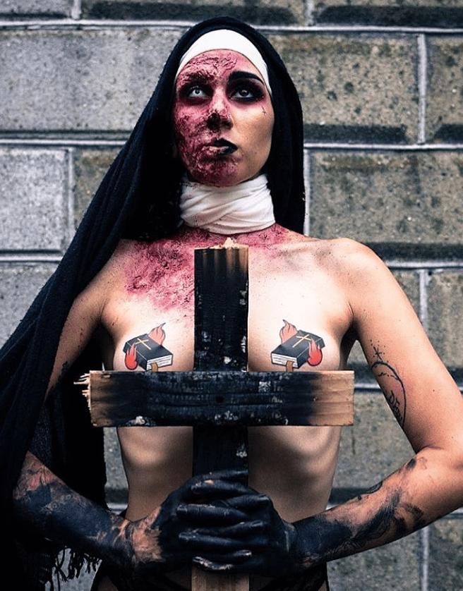 Image of Burning Bible Nipple Pasties
