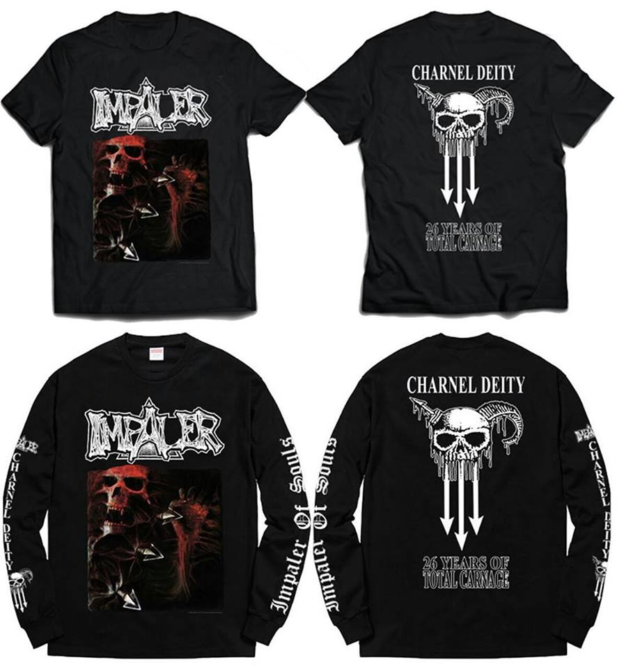 IMPALER charnel deity official tshirt and long sleeves