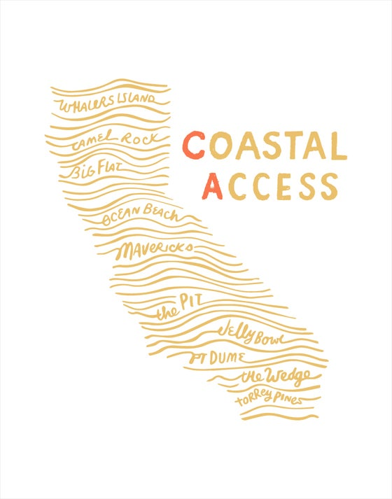 Image of Coastal Access 11x14 print