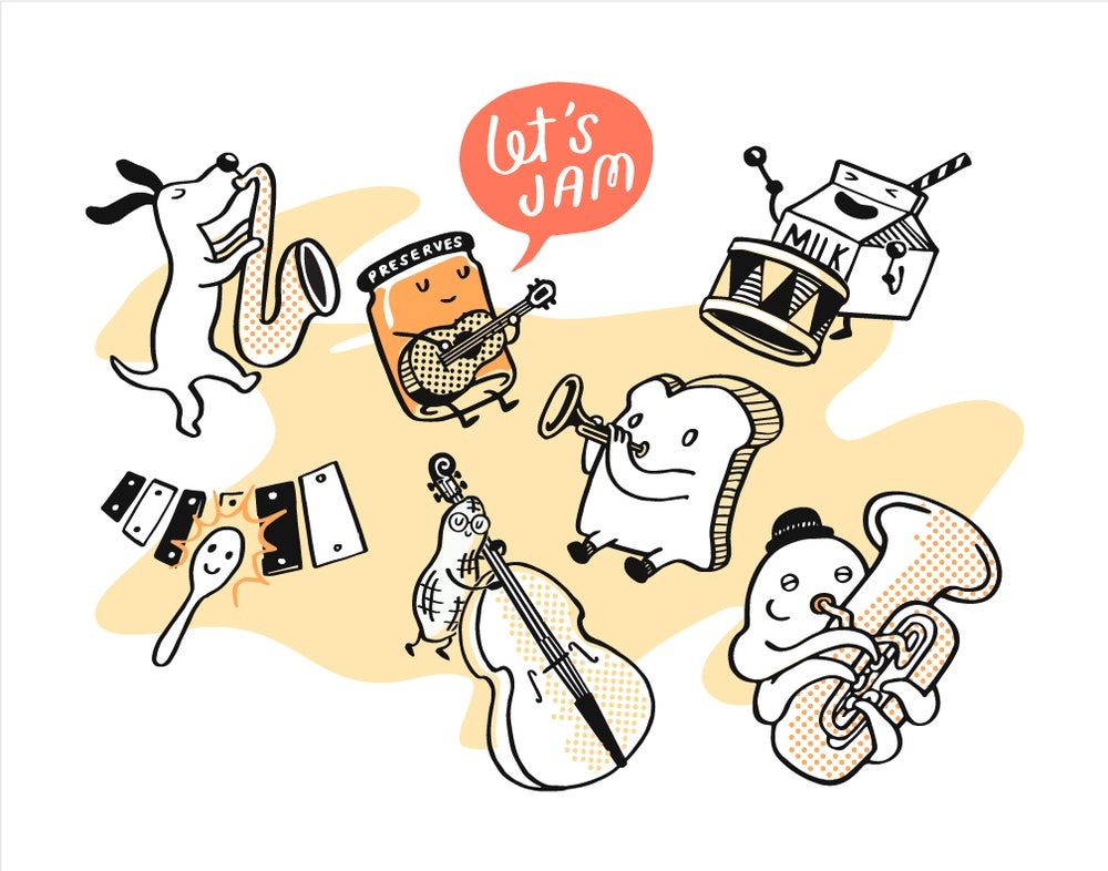 Image of Let's Jam 11x14 print