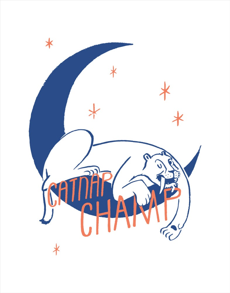 Image of Catnap Champ 11x14 print
