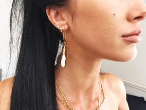Image of Druzy Hoops