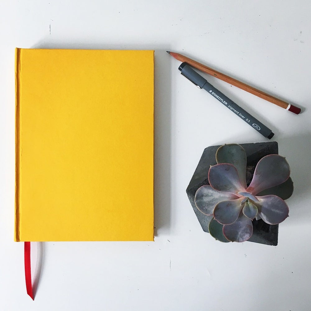 Image of A5 single colour notebook