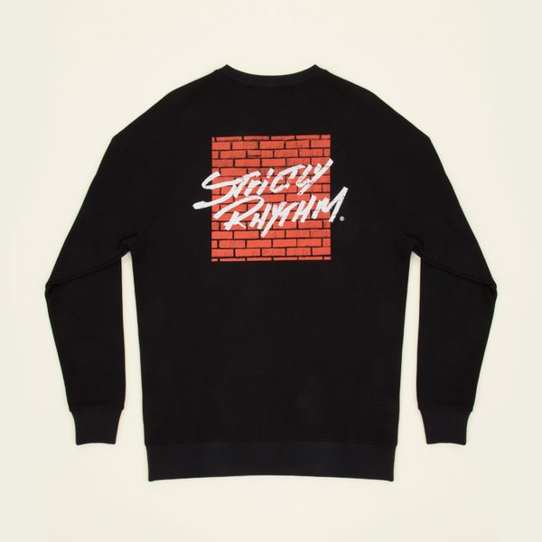 Image of Men's red brick logo pocket sweatshirt black