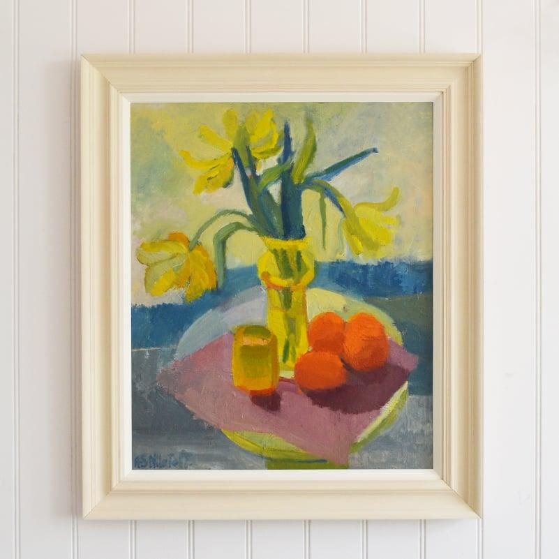 Image of Mid-century, Swedish, 'Still life with Tulips,' Anna-Stina Lorentze Nilstoft (1928-2017)