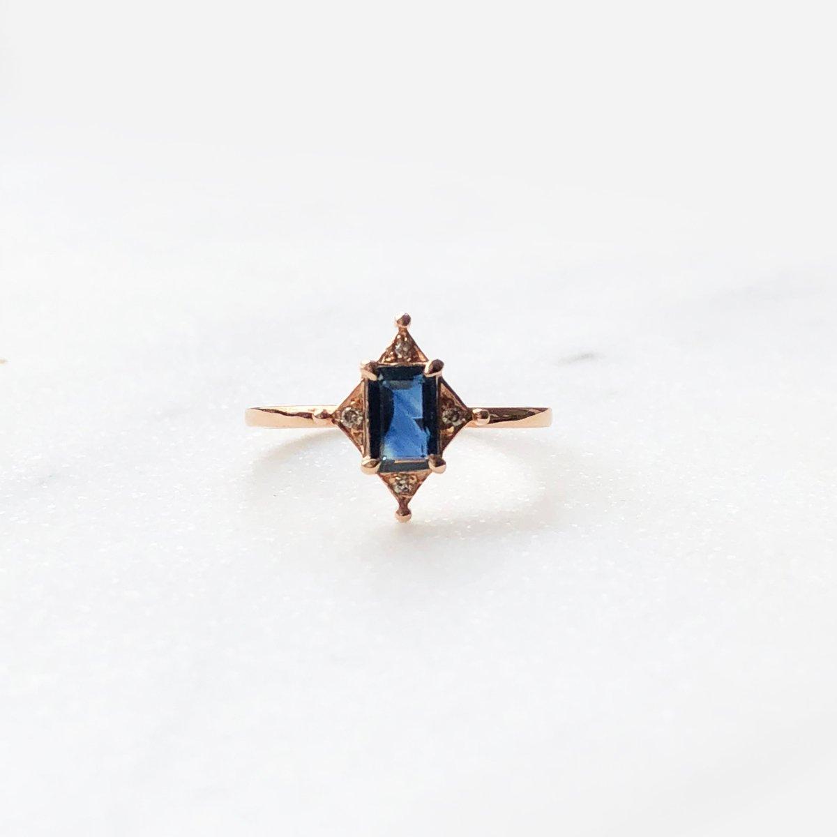 Image of Art Deco Sapphire Ring
