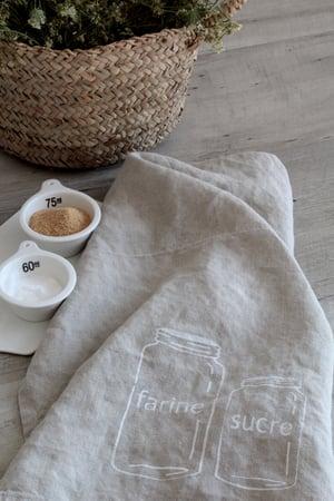 Image of Torchon lin lavé naturel 'Bocaux' (TRCHNBOCAUX)