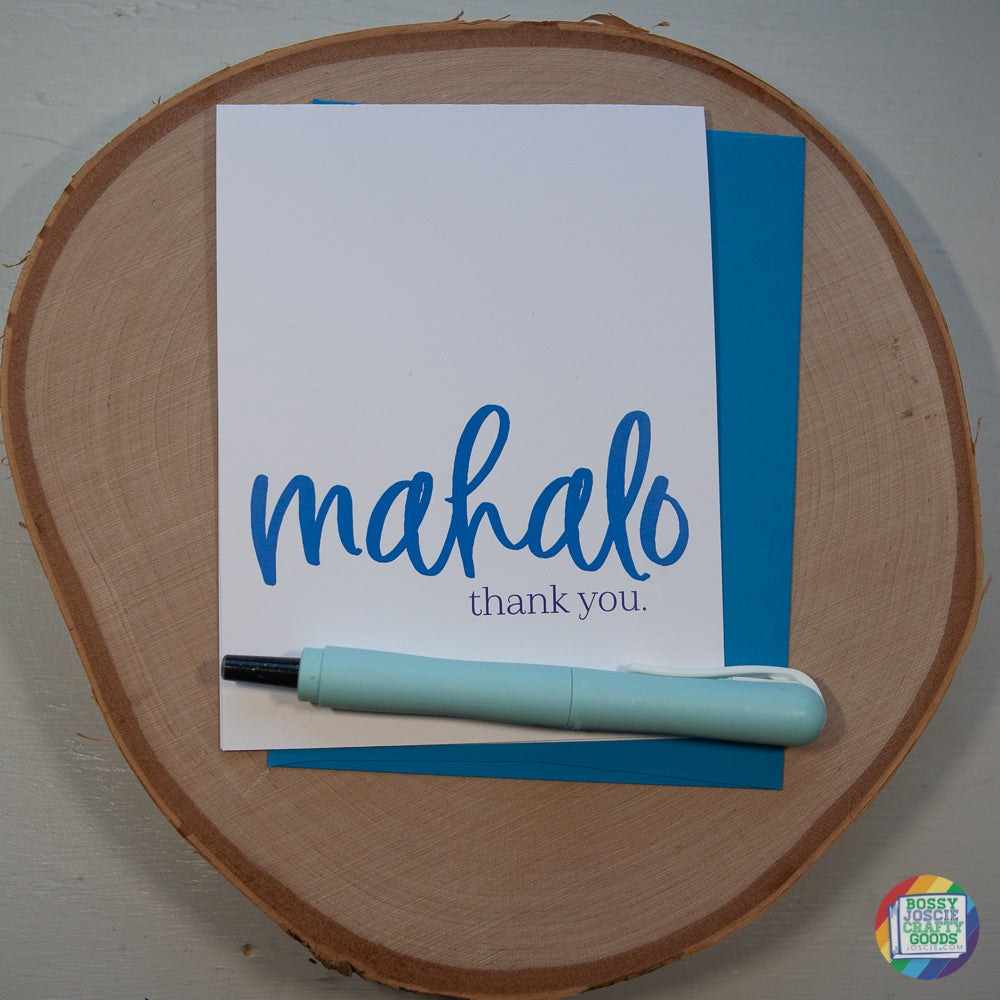 Image of mahalo.thank you card