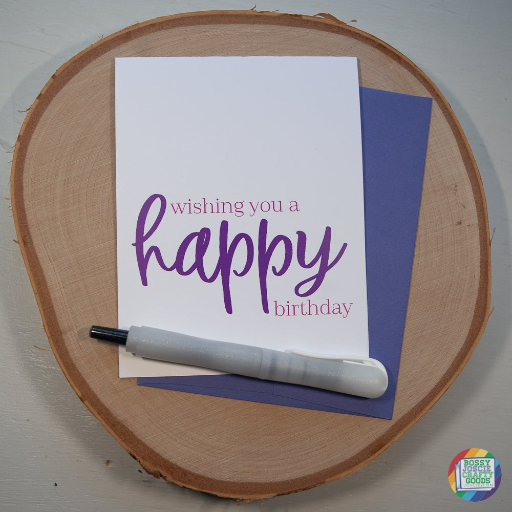 Image of wishing you a happy birthday card