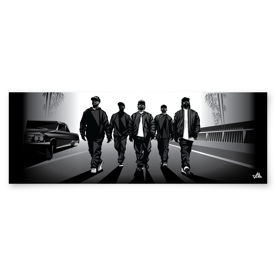"Image of Straight Outta Triangles - 12"" x 36"" print"