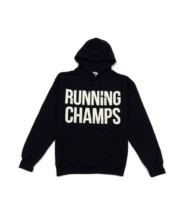 Image of ///A1 Runner x Running Champs Black Hoodie