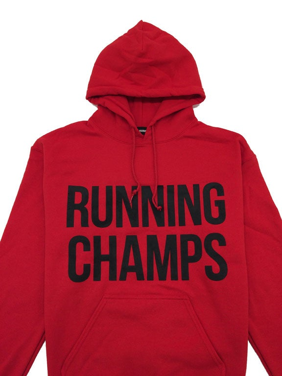 Image of ///A1 Runner x Running Champs Red Hoodie