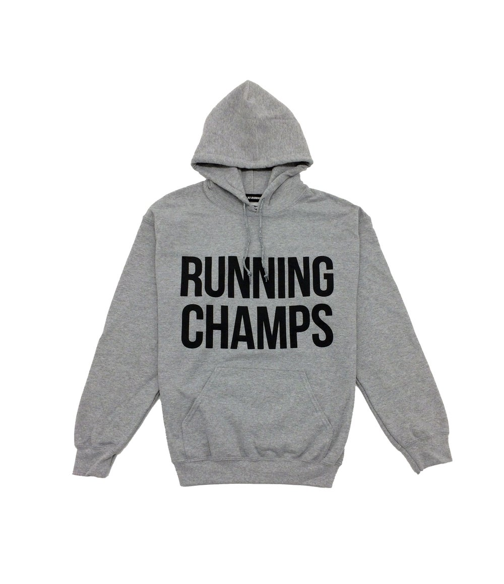 Image of ///A1 Runner x Running Champs Grey Hoodie