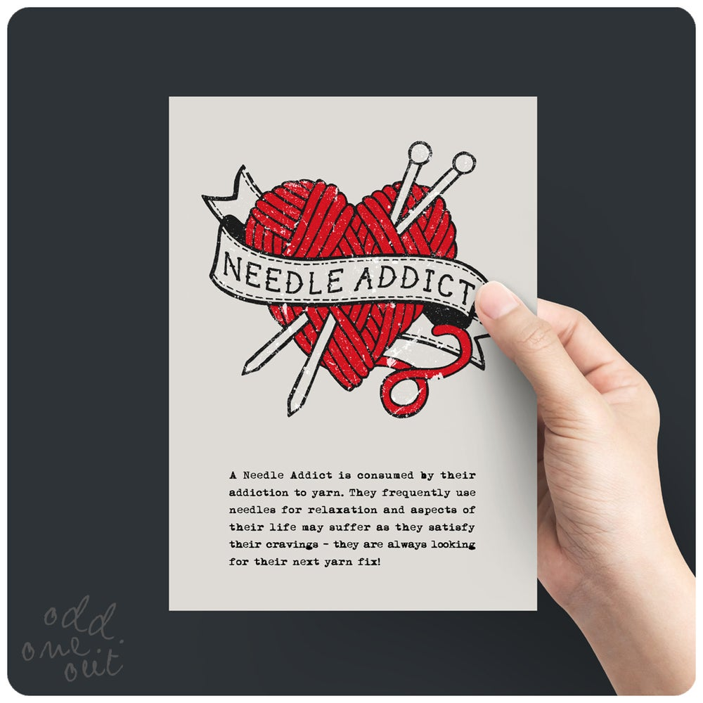 Image of Needle Addict - A5 print