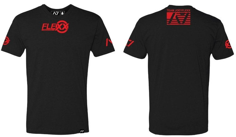 Image of Men's Black & Red Flexx/A7 Material Collab Competition Tee
