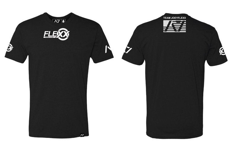 Image of Men's Black & White Flexx/A7 Material Collab Competition Tee