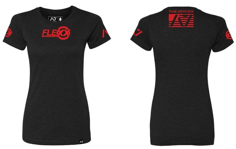 Image of Women's Black & Red Flexx/A7 Material Collab Competition