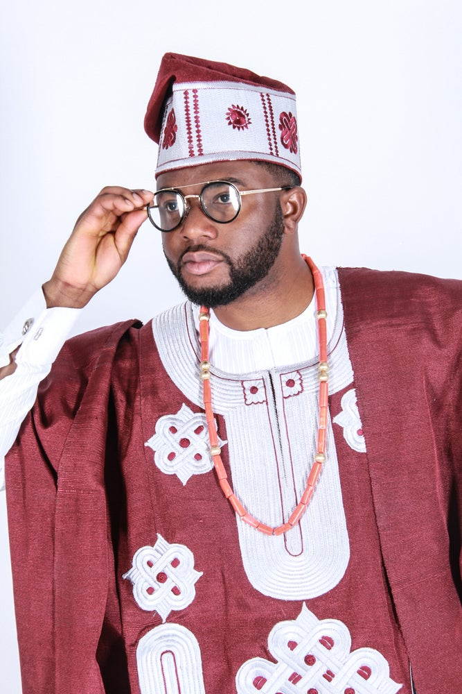 Image of Men's Aso oke Agbada Full set