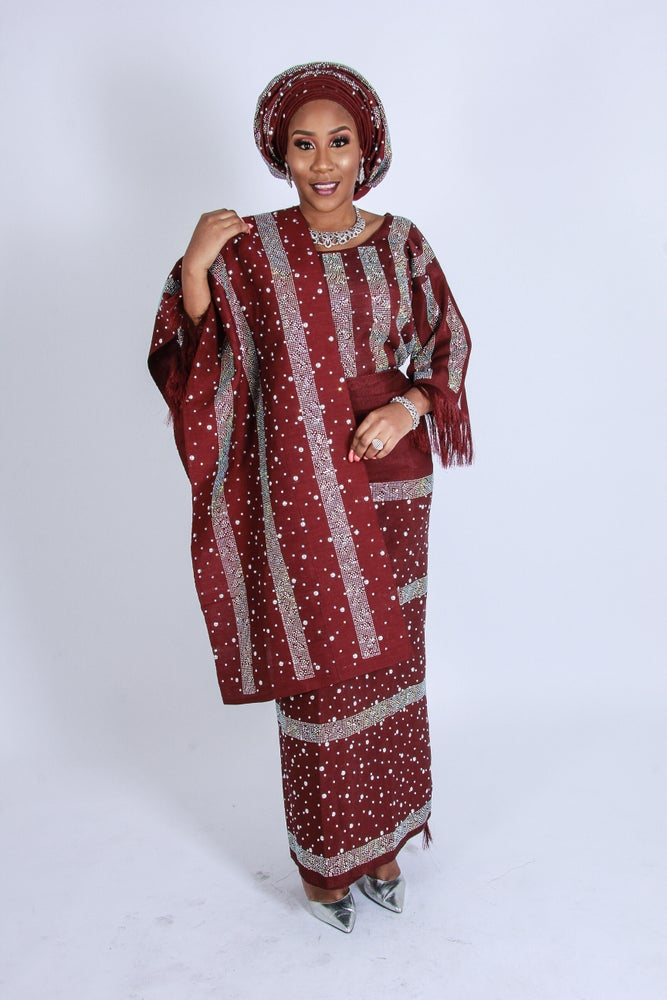 Image of Women's Iro and buba custom made to fit Aso Oke
