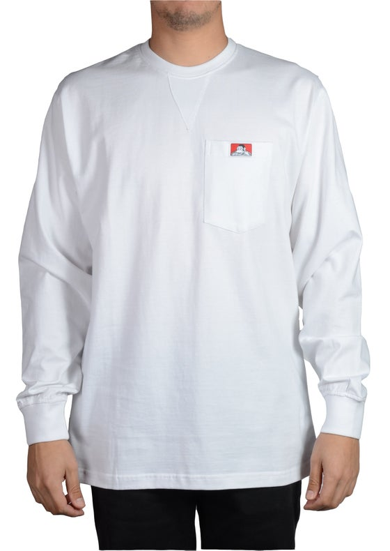 Image of Ben Davis Classic Label Long Sleeve Pocket T-Heavy Duty