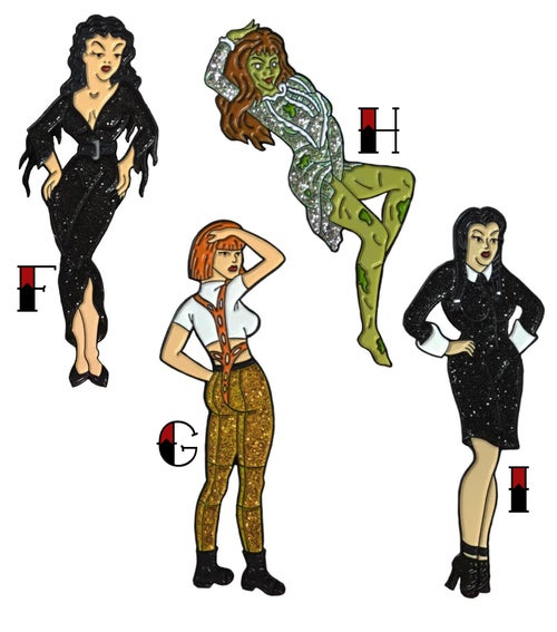 Image of Ghoulish Gals - Lapel Pin