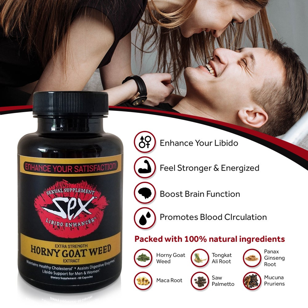 Image of Extra Strength  Horny Goat Weed Extract, Supplement (60 Capsules)