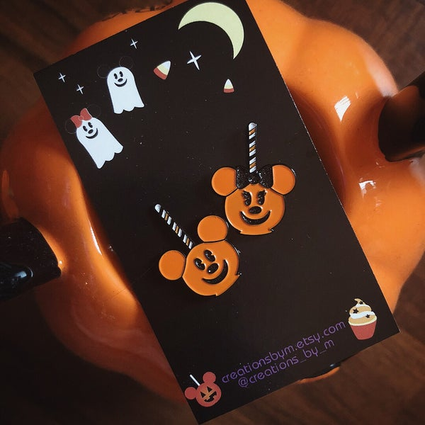 Image of  Halloween Mouse Treats - MNSSHP fantasy enamel pin set