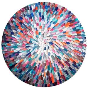 Image of Universum orbis - 76x76cm