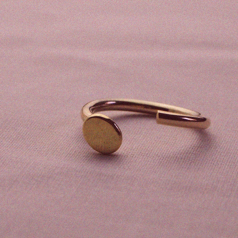 Image of Paola Gold Half Pebble Cuff Ring