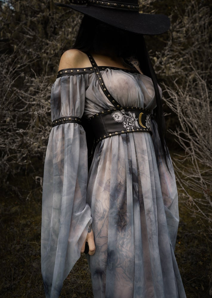 Image of TOXIC VISION Silver Trees gown and harness