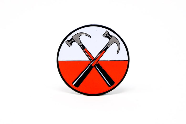 Image of Pink Floyd - 'The Wall' Hammers Enamel Pin