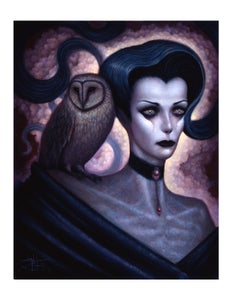 "Image of ""Lilith and Her Owl Familiar"" Limited Edition Paper Print"