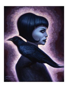"Image of ""Crow Girl"" Limited Edition Paper Print"