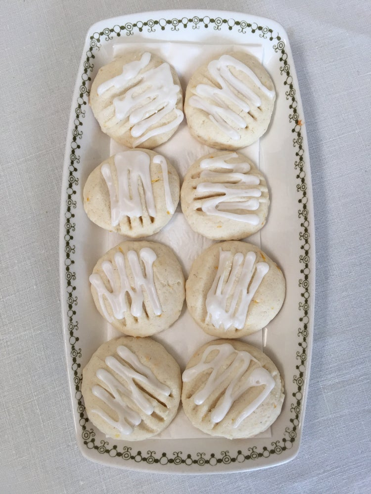 Image of GLUTEN FREE - Lemon Cookies with a Lemon Drizzle - ONE DOZEN