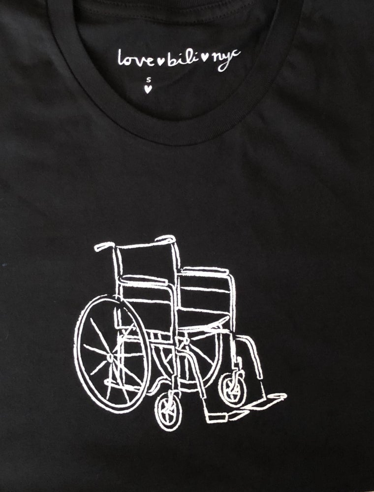 Image of wheelchair shirt (black)