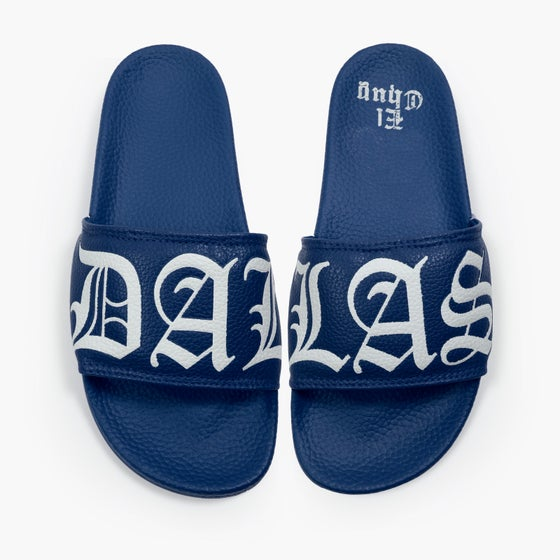 Image of DALLAS NAVY SLIDES KIDS (NOW SHIPPING)