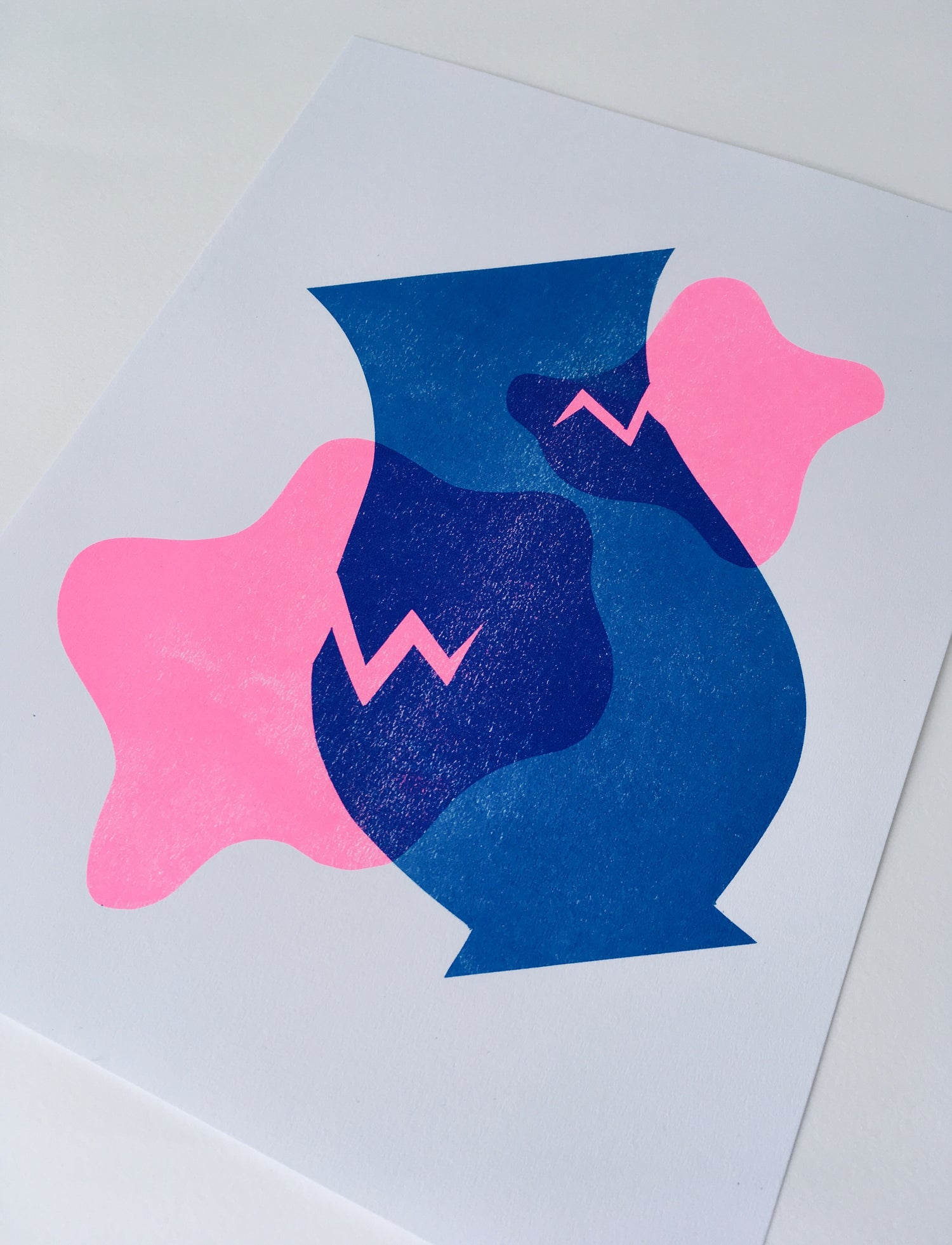 Image of Broken Vessel Riso Print