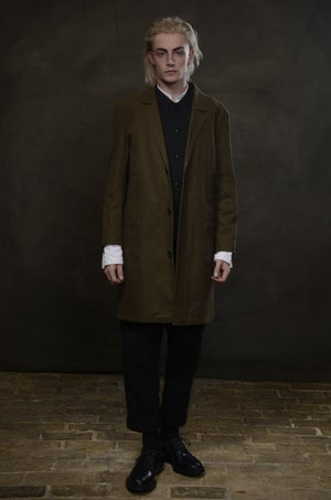 Image of MANUFACTURING COAT - OLIVE £345.00