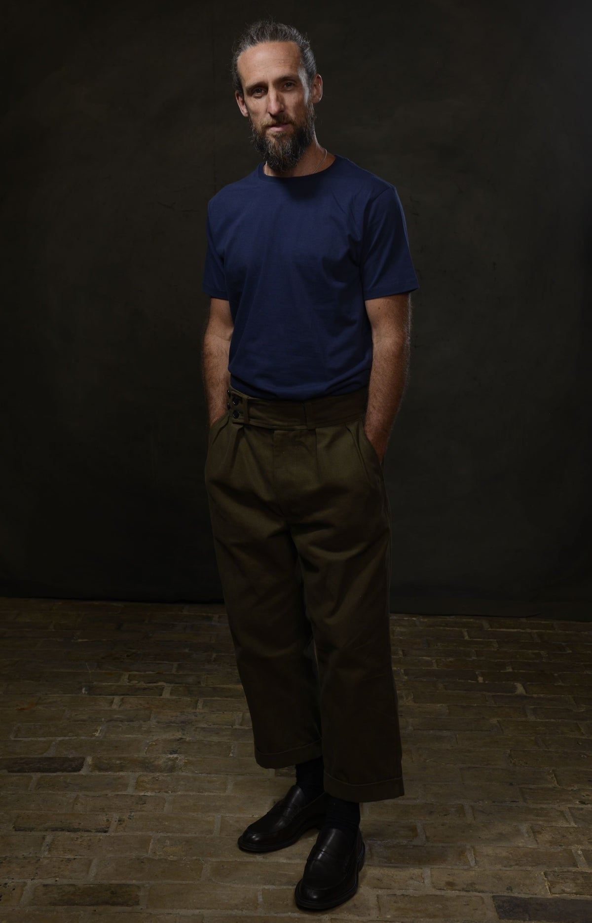 Image of MANUFACTURING TROUSER - OLIVE £245.00