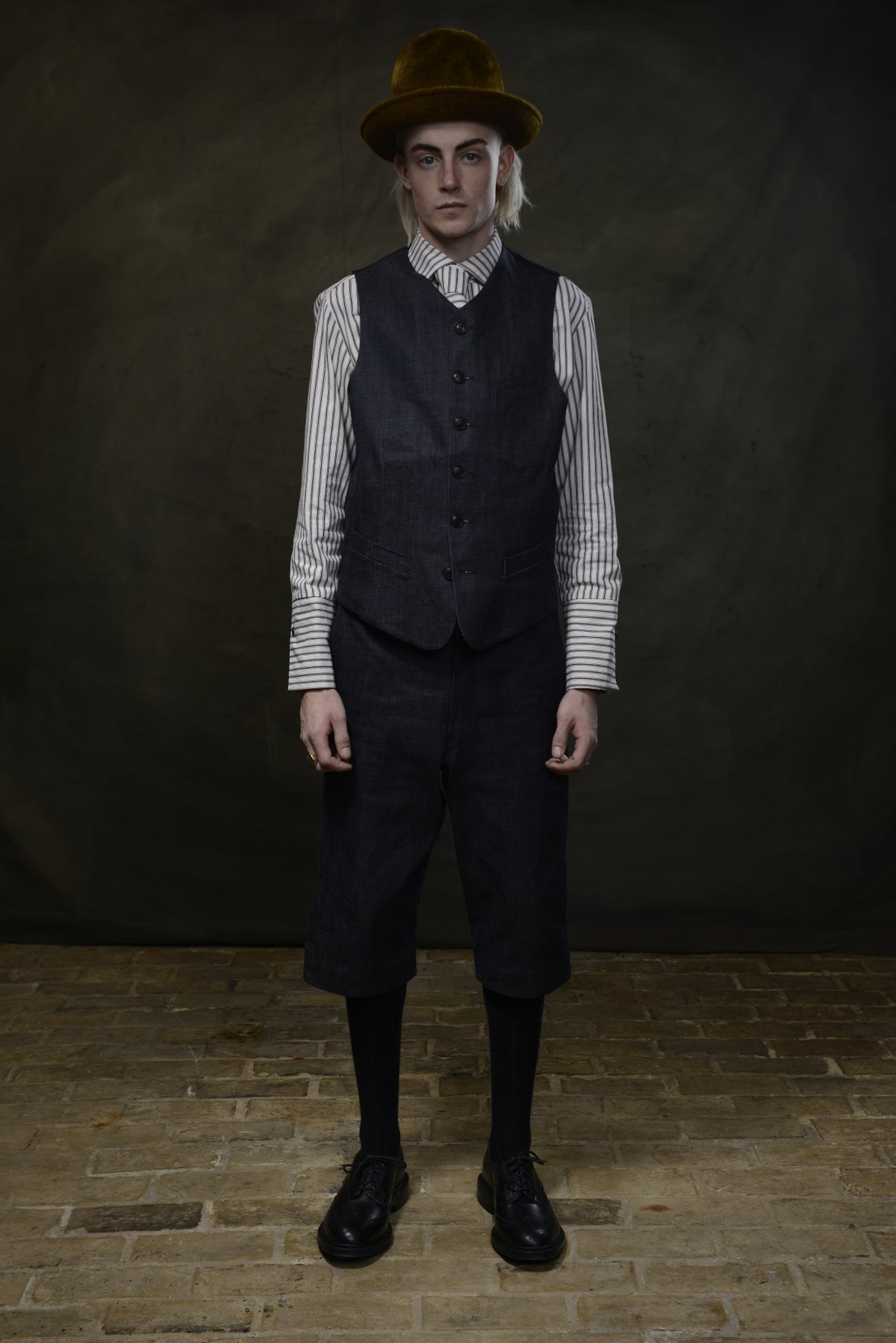 Image of ARTISAN WAISTCOAT - JAPAN DENIM £195.00