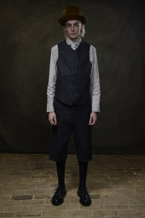 Image of ARTISAN WAISTCOAT - JAPAN DENIM