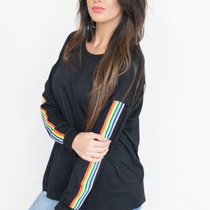 Image of Kelsie Rainbow striped long sleeve